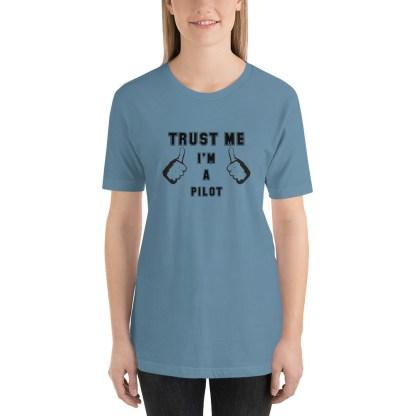 airplaneTees Trust me Im a Pilot tee... Short-Sleeve Unisex 4