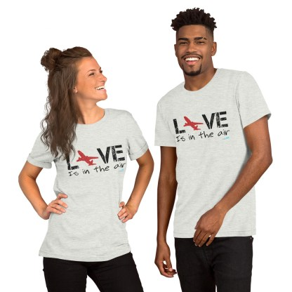 airplaneTees LOVE is in the air tee... Short-Sleeve Unisex 6