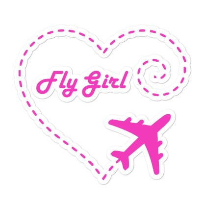 airplaneTees Fly Girl stickers... Bubble-free 1