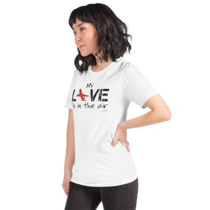 airplaneTees MY Love is in the air tee... Short-Sleeve Unisex 18