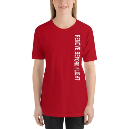 airplaneTees Remove before flight tee... Short-Sleeve Unisex 5