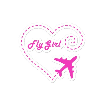 airplaneTees Fly Girl stickers... Bubble-free 3