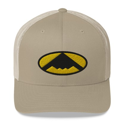 airplaneTees B2 Bomber Trucker Cap – In the style of Batman 6