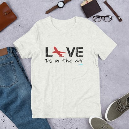 airplaneTees LOVE is in the air tee... Short-Sleeve Unisex 14