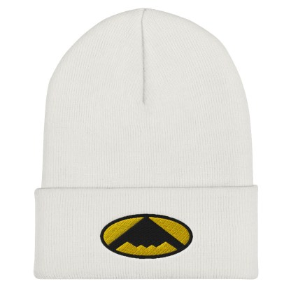 airplaneTees B2 Bomber Cuffed Beanie – In the style of Batman 3