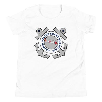 airplaneTees Coast Guard Kid- Back Printed... Youth Short Sleeve T-Shirt 14