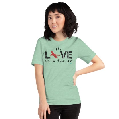 airplaneTees MY Love is in the air tee... Short-Sleeve Unisex 28