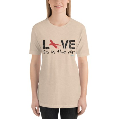 airplaneTees LOVE is in the air tee... Short-Sleeve Unisex 25
