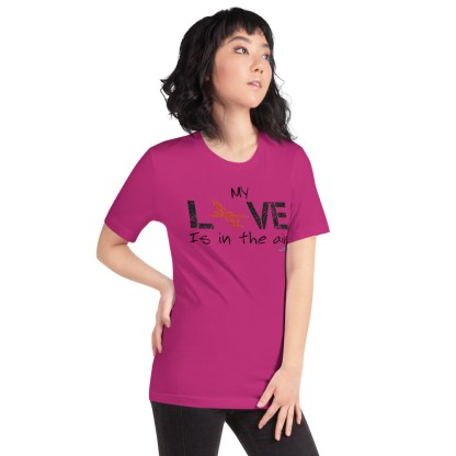 airplaneTees MY Love is in the air tee... Short-Sleeve Unisex 57