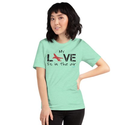airplaneTees MY Love is in the air tee... Short-Sleeve Unisex 46