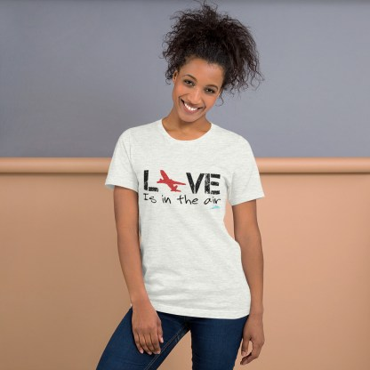 airplaneTees LOVE is in the air tee... Short-Sleeve Unisex 9