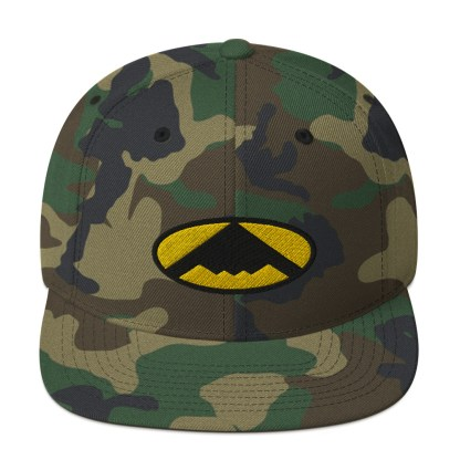 airplaneTees B2 Bomber Snapback Hat – In the style of Batman 5