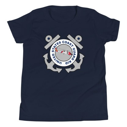 airplaneTees Coast Guard Kid- Back Printed... Youth Short Sleeve T-Shirt 5