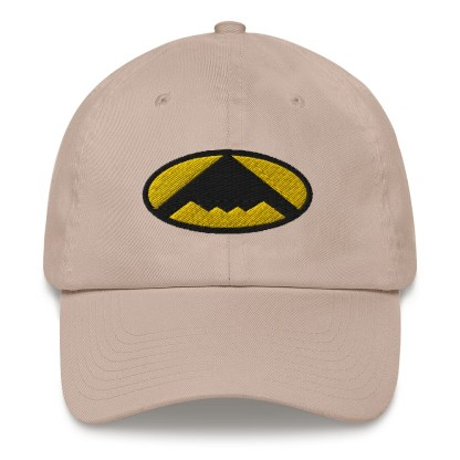 airplaneTees B2 Bomber Dad hat – In the style of Batman 5