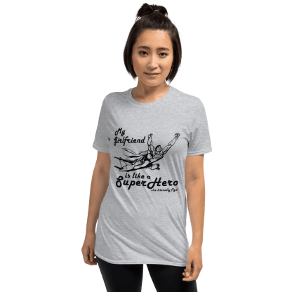 airplaneTees My Girlfriend is like a SuperHero tee... Short-Sleeve Unisex 5