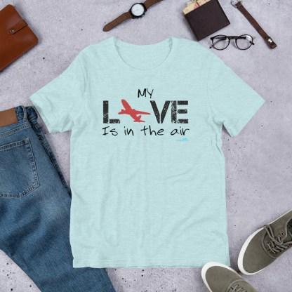 airplaneTees MY Love is in the air tee... Short-Sleeve Unisex 8