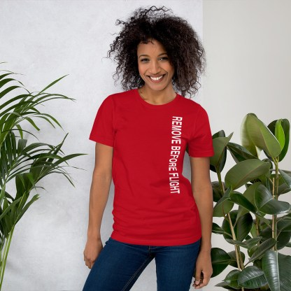 airplaneTees Remove before flight tee... Short-Sleeve Unisex 15