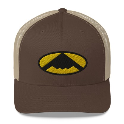 airplaneTees B2 Bomber Trucker Cap – In the style of Batman 5