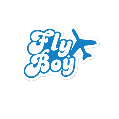 airplaneTees Fly Boy stickers... Bubble-free 1