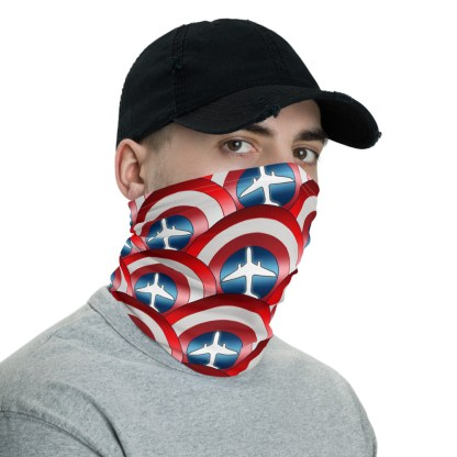 airplaneTees Captain American Face Covering/Face Mask/captain america neck gaiter 3