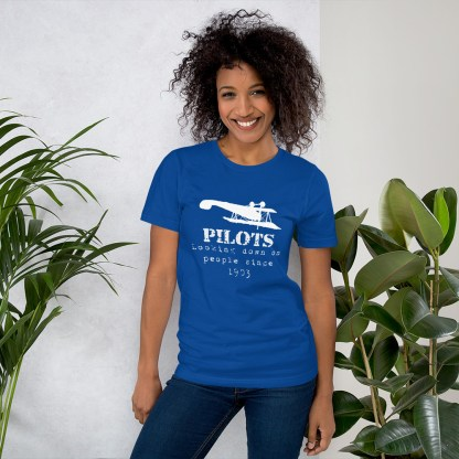 airplaneTees Pilots looking down on people since 1903 tee... Short-Sleeve Unisex 8