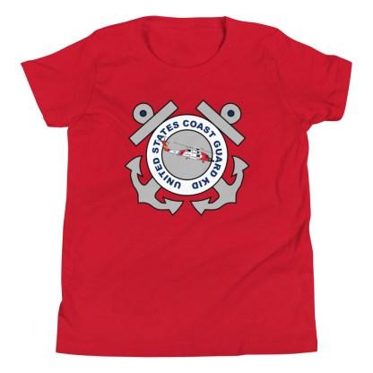 airplaneTees Coast Guard Kid- Back Printed... Youth Short Sleeve T-Shirt 20