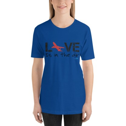 airplaneTees LOVE is in the air tee... Short-Sleeve Unisex 26