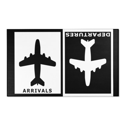 airplaneTees Arrivals Departures Area Rug 13