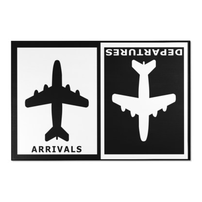 airplaneTees Arrivals Departures Area Rug 16