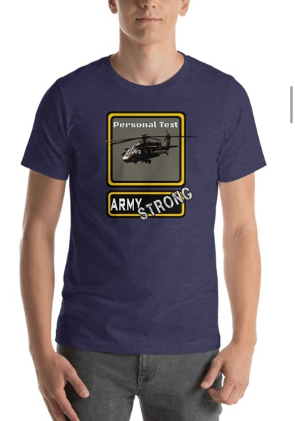 airplaneTees PERSONALIZE IT - Army Strong Tee, Army Mom, Dad, Rank, Class you name it. Short-Sleeve Unisex T-Shirt 30
