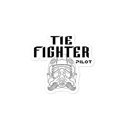 airplaneTees Tie Fighter Pilot Stickers... Bubble-free 2