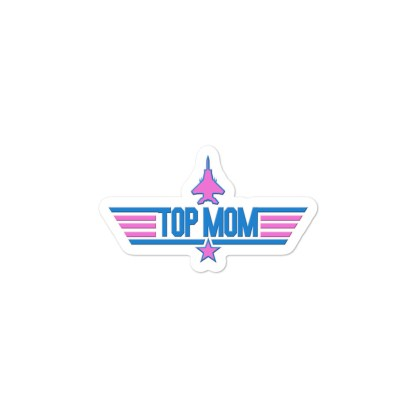airplaneTees Top Mom stickers - Light... Bubble-free 2