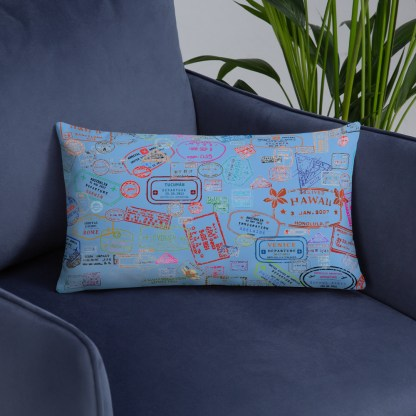 airplaneTees Going Places Pillow - Light Blue 12