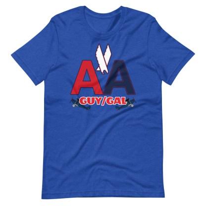 airplaneTees CUSTOM AA Tee, American Guy/Gal Tee Short-Sleeve Unisex 12