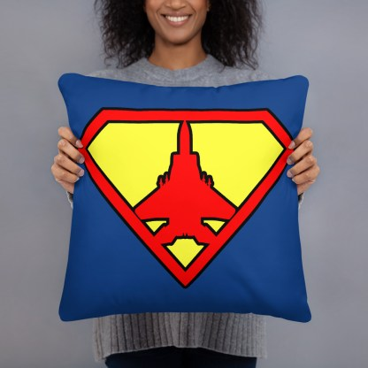 airplaneTees Super Fighter Pilot Pillow 4