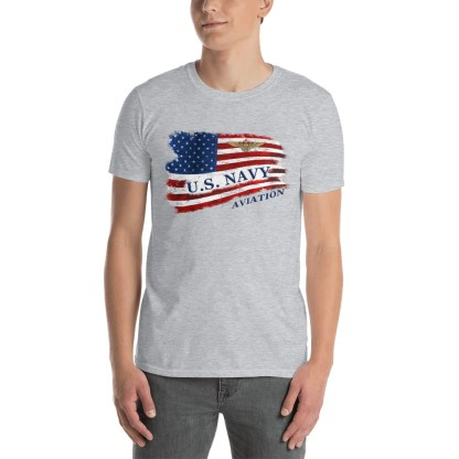 airplaneTees US Navy Aviation American Flag Tee... Short-Sleeve Unisex 4