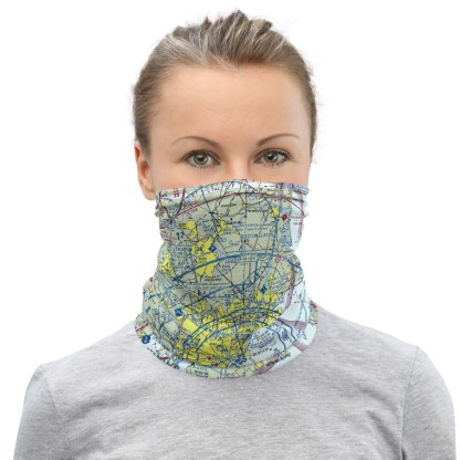 airplaneTees BOS - Boston VFR Sectional Face Mask/Face Covering/Neck Gaiter 2