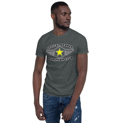 airplaneTees Official Member Mile High Club Tee Short-Sleeve Unisex 2