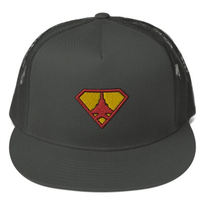 airplaneTees Super Fighter Pilot Hat... Trucker Cap 4