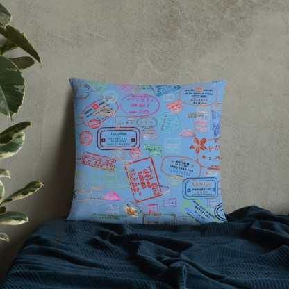 airplaneTees Going Places Pillow - Light Blue 40