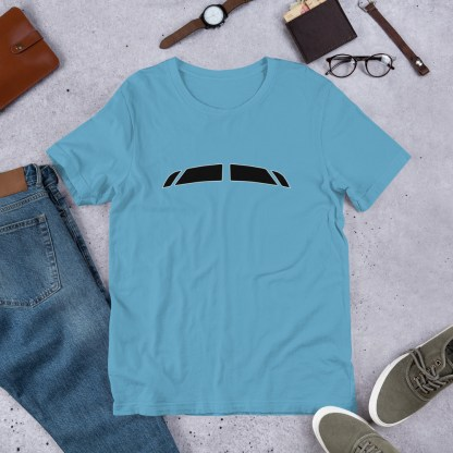 airplaneTees Bombardier CRJ900 Cockpit Windows Tee... Short-Sleeve Unisex 6
