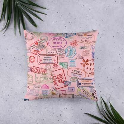 airplaneTees Going Places Pillow - Pink 1