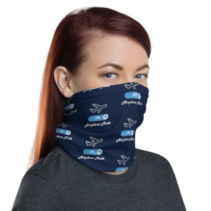 airplaneTees Airplane Mode ON Face Mask/Face Covering/Neck Gaiter 3