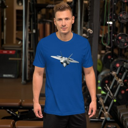 airplaneTees F22 Front View... Short-Sleeve Unisex T-Shirt 6
