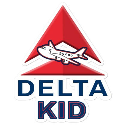 airplaneTees Delta Kid Stickers... Bubble-free 1