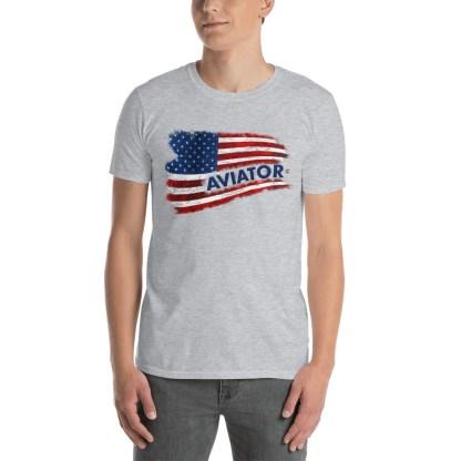 airplaneTees Aviator US Flag tee... Short-Sleeve Unisex 3