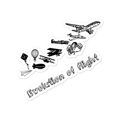 airplaneTees Evolution of flight stickers... Bubble-free 3