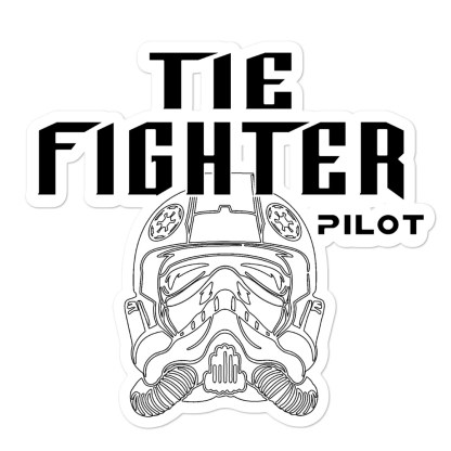 airplaneTees Tie Fighter Pilot Stickers... Bubble-free 1
