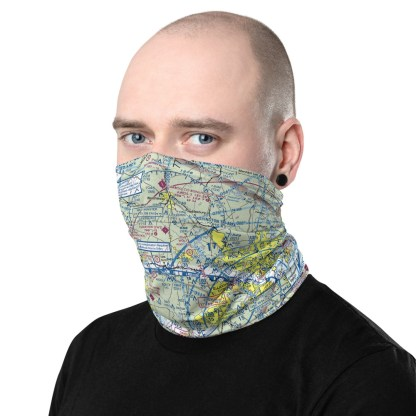 airplaneTees DCA - Washington Reagan VFR Sectional Face Mask/Face Covering/Neck Gaiter 3