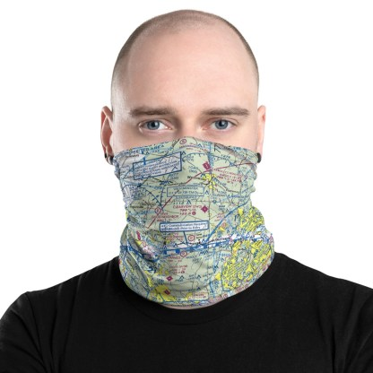 airplaneTees DCA - Washington Reagan VFR Sectional Face Mask/Face Covering/Neck Gaiter 1